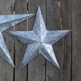 Stjerne i zink til væg - H52 cm.