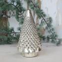 Juletræ i glas / sølv look - H22,5 cm.