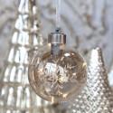 Julekugle med LED lys - Iskrystal