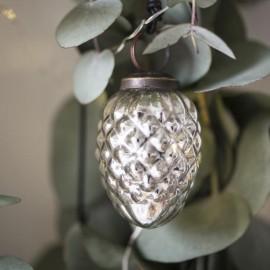 Julekugle - kogle i sølv