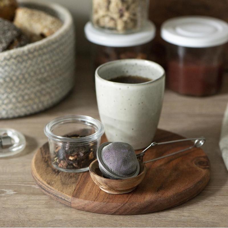 Tesi klemme - sølvfarvet tekugle