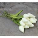 Tulipaner i bundt af 12 stk. - kunstige