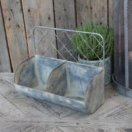 Hylde med net i zink