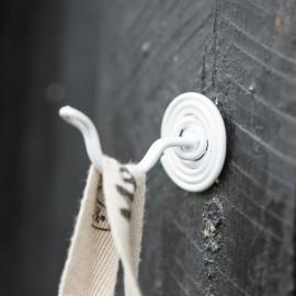 Knage spiralformet - hvid