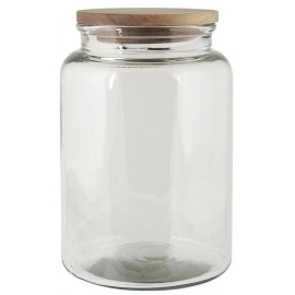 Glaskrukke m. trælåg