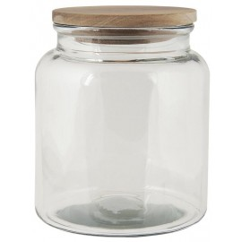 Glaskrukke m. trælåg - 2350 ml