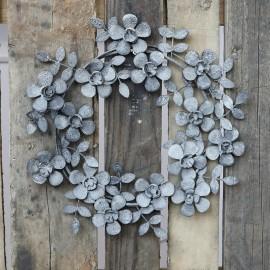 Krans m. blomster af zink