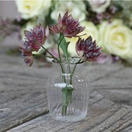 Vase i glas - H8 cm.