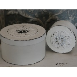 Box / dåse med rose i antik creme fra Chic Antique (stor)