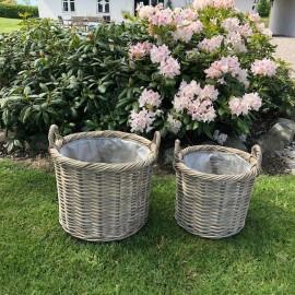 Runde plantekurve i  flet - sæt af 2 stk.