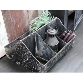 Metal kasse med 6 rum fra Chic Antique