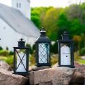 Lanterne m. kryds i plast/glas - vandtæt til LED lys