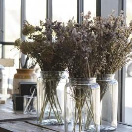 Glasvase - stor vase i klar glas fra Ib Laursen