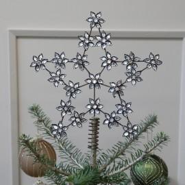 Topstjerne til juletræ m. similisten