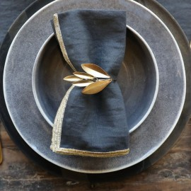 Servietring med blade
