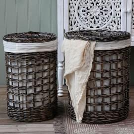 Vasketøjskurv m. låg - sæt m. 2