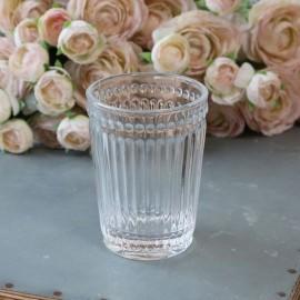 Tandkrus i glas m. riller