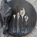 Bestik sølvfarvet fra Chic Antique m. flot dekor