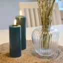 LED lys petroleumsfarvet 5 x 15 cm.
