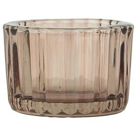 Fyrfadsstage i glas fra Ib Laursen - Plum