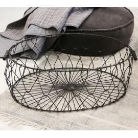 Stor trådkurv i jern - foldbar