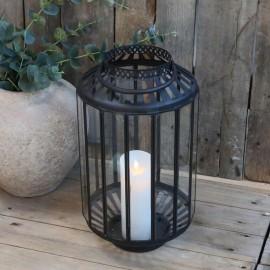Stor sort lanterne fra Chic Antique