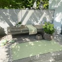 Gulvløber / tæppe grøn 70 x 150 cm.