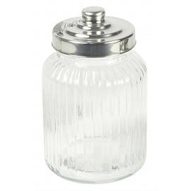 Glaskrukke med låg i sølv fra Ib Laursen