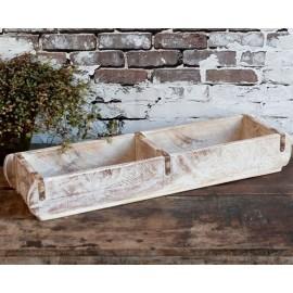 Murstensform dobbelt / aflang- antique hvid