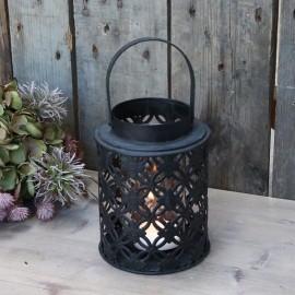 Lanterne sort m. blonde