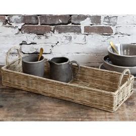 Bakke i flet med håndtag - aflang fra Chic Antique