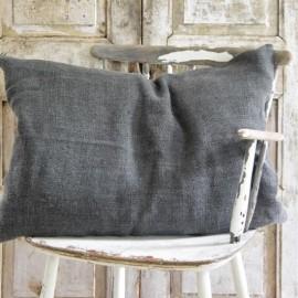 Pudebetræk sort/grå - 50 x 70 fra Jeanne d'Arc Living