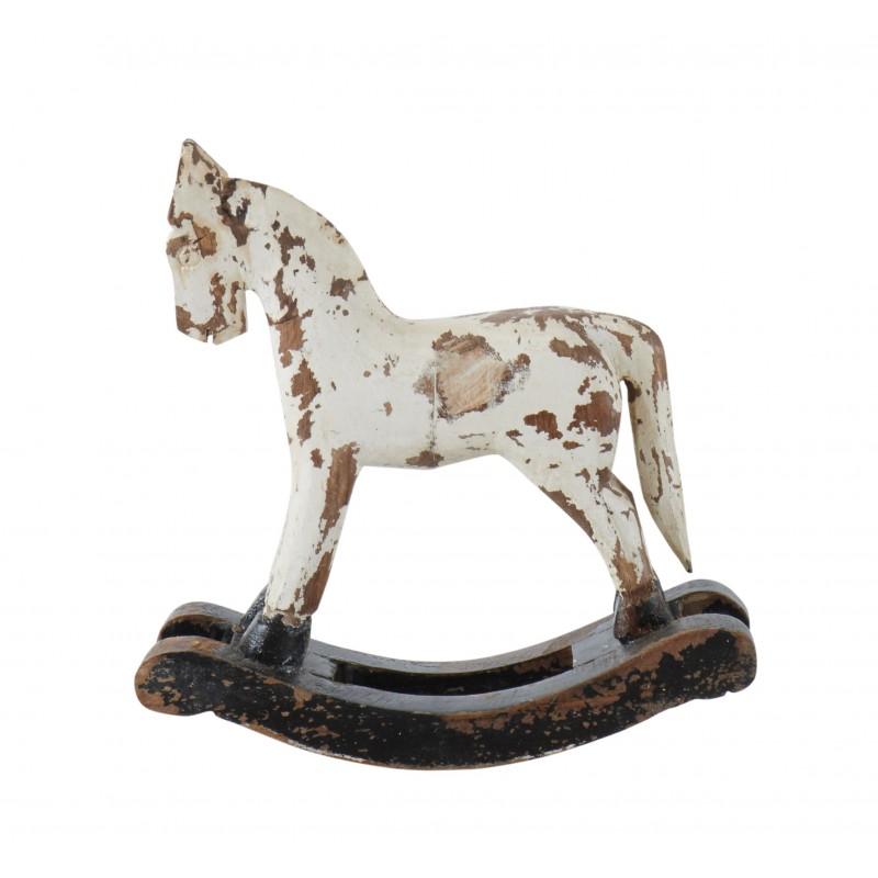 "Gyngehest ""Troja"" i hvid fra Affari - 18cm"