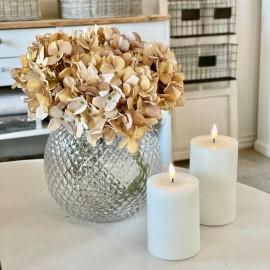 Kunstig hortensia stilk - beige 45 cm.