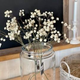 Kunstig gren med creme blomster - 60 cm.