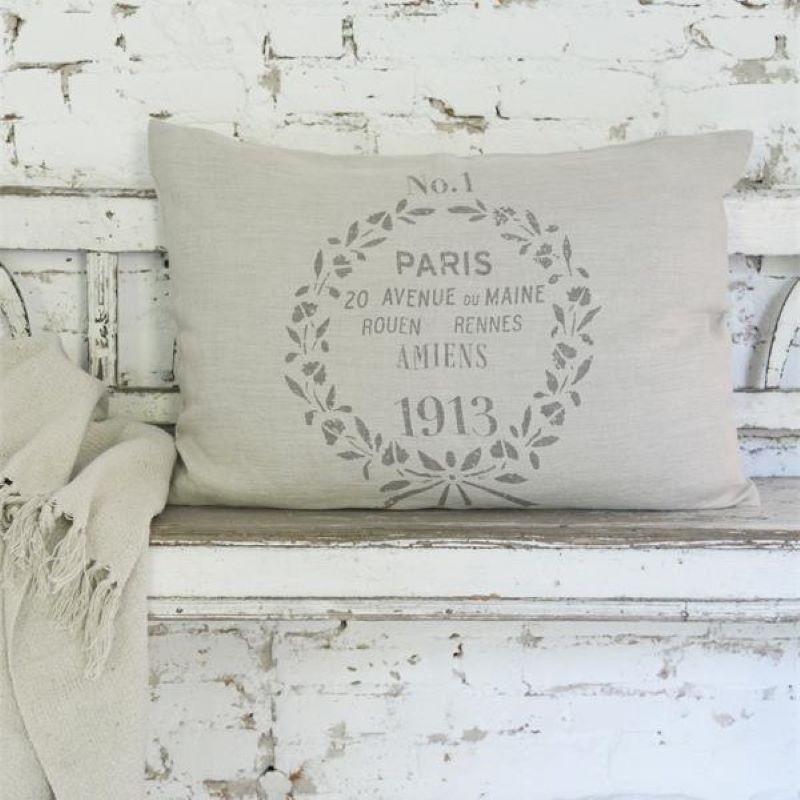 Pude med fyld - hørbetræk fra Jeanne d'Arc Living