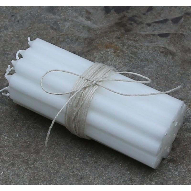 Kertelys i hvid 13 x 1,2 cm