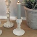 Lysestage i antique creme - 8 cm