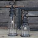 Chic Antique lanterne - med pære 32cm