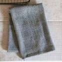 Viskestykke vævet i grå fra Chic Antique