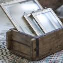 Murstensform / træbakke med ægte patina