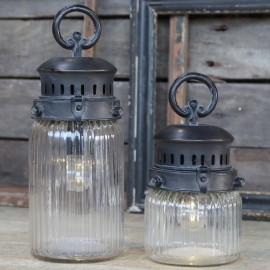 Lanterne i fransk landstil 30cm til batteri