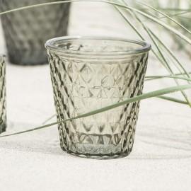 Fyrfadsstage/lygte i glas fra Ib Laursen