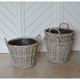 Rund plantekurv med hank