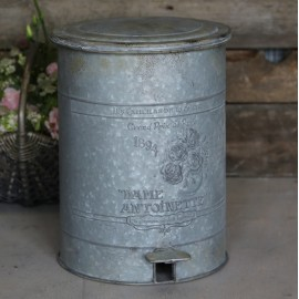 Zink skraldespand med låg fra Chic Antique