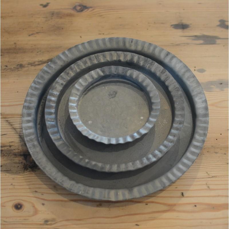 Underskåle / fade i zink - sæt a´3