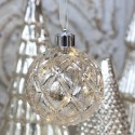 Julekugle m. LED lys