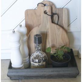 Bakke i antique zink look - Lille