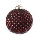 Julekugle - stor rød kugle - 10 cm