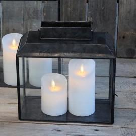 Stor lanterne i sort